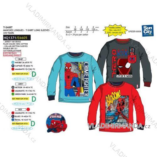 609db9dbb Tričko dlhý rukáv spiderman detské chlapčenské bavlnené (3-8 rokov) SUN CITY  HQ1371