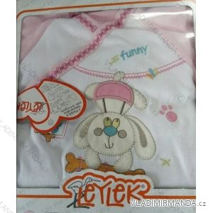 Komplet (kabátek,dupačky,čepice,rukavice) kojenecký dívčí a chlapecký (0-4 měsíce) TIASIS TV02