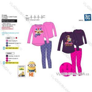 Pyžamo dlouhé mimoni dětské dívčí (3-8 let) SUN CITY PH2122