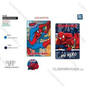 Deka přikrývka spiderman dětská chlapecká ( 100*150 cm ) SUN CITY HQ4339