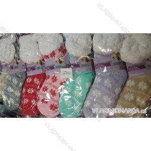 Ponožky hedvábné zateplené bavlnou dámské (one size) LOOKEN SM-HL-2013