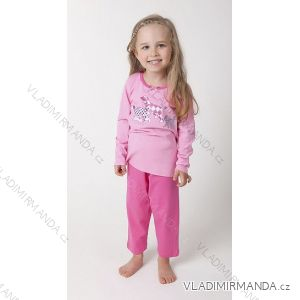 Pyžamo dlouhý rukáv a nohavice dětské dívčí (100-130) CALVI-COONOOR 16-426