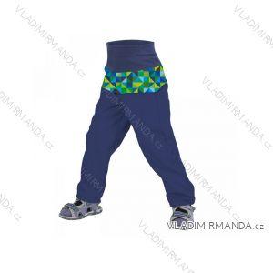Kalhoty  softshellové bez zateplení kojenecké chlapecké modré  (68-98)  UN18028