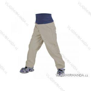 Kalhoty  softshellové bez zateplení kojenecké chlapecké šedobéžové  (68-98)  UN18031