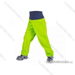 Kalhoty  softshellové bez zateplení kojenecké dívčí i chlapecké limetkové  (68-98)  UN18032