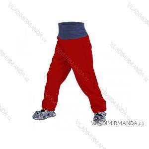 Kalhoty  softshellové bez zateplení kojenecké dívčí i chlapecké bordo červené  (68-98)  UN18037