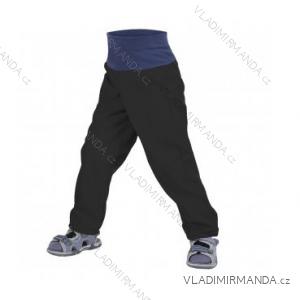 Kalhoty  softshellové bez zateplení kojenecké dětské dívčí i chlapecké černé  (86-104)  UN18038-SLIM 8596227042616