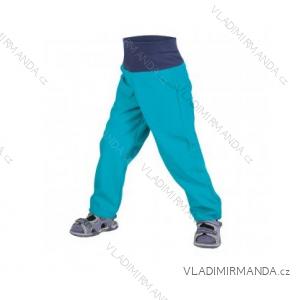 Kalhoty  softshellové bez zateplení kojenecké dětské dívčí i chlapecké aqua  (86-104)  UN18039-SLIM 8596227042685