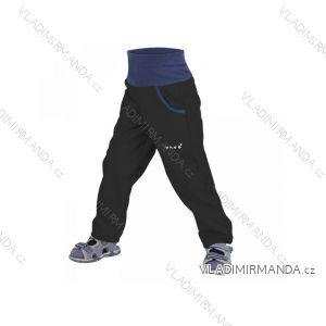 Kalhoty  softshellové bez zateplení dětské dívčí i chlapecké černé  (116-134)  UN18044 8596227022816
