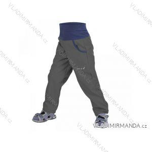 Kalhoty  softshellové bez zateplení dětské dívčí i chlapecké antracitové  (98-116)  UN18047 8596227022908