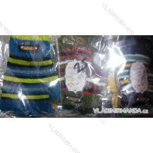 Rukavice prstové bezšpiček teplé dětské dívčí a chlapecké pletené (9-16let) GENTLE G001