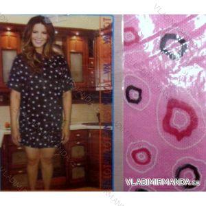 Maxi tričko krátký rukáv dámské nadrozměrné s kapsami (l-5xl) YN.LOT 339/2