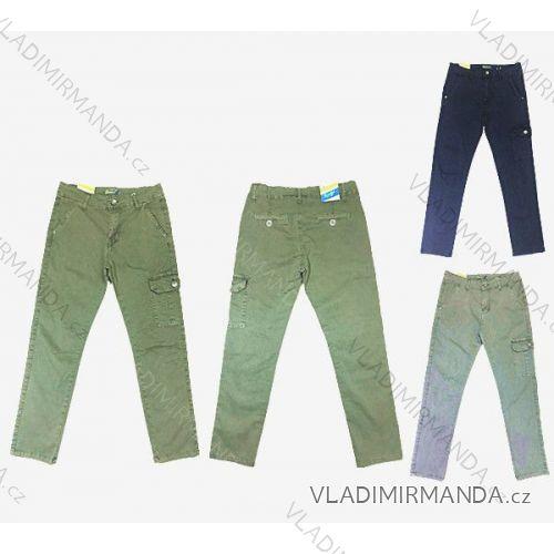 Kalhoty plátěné jarní dětské a dorost chlapecké (134-164) KUGO T837 ... 52a09f2d86