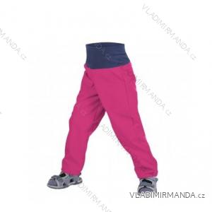 Kalhoty  softshellové bez zateplení kojenecké dětské dívčí malinové  (86-104)  UN18049-SLIM-8596227042753