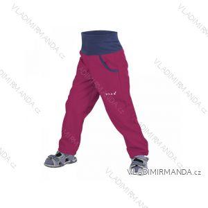 Kalhoty  softshellové bez zateplení dětské dívčí malinové (98-116)  UN18051 8596227023028