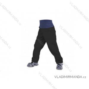 Kalhoty  softshellové bez zateplení kojenecké dívčí i chlapecké černé (68-98)  UN18052 8596227042586