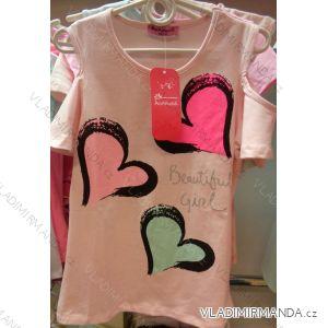 Tričko krátký rukáv dětské  dívčí (98-128) DREAM GIRLGL182365