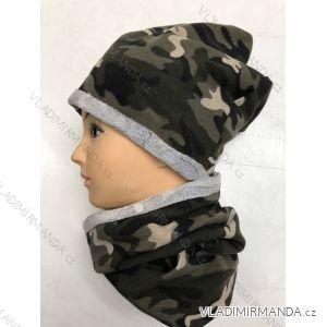 Set čepice a nákrčník jarní maskáčový dětský (uni)  POLSKá VýROBA POL118086