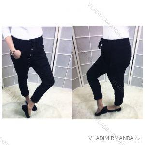 Kalhoty dlouhé plátěné dámské (uni s-l) ITALSKá MóDA IM518041
