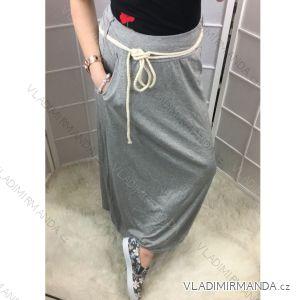 Sukně s kapsami dlouhá letní jednobarevná dámská (uni s-l) ITALSKá MóDA IM418260