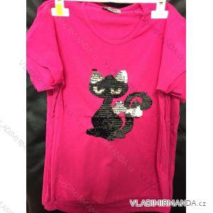 Tričko slabé krátký rukáv s flitry dětské dívčí (4-12 let)  TURECKá MODA IMM18397