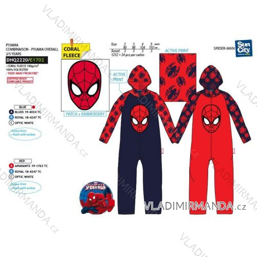 Pajamas overalls warm long spiderman baby boys (2-5 years) SUN CITY DHQ2220 e76846ae25a