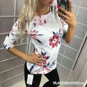 Tričko s 3/4 dlouhým rukávem dámské  (s/m-l/xl) ITALSKá MóDA IM518079