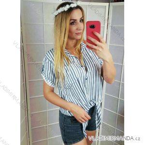 Košile proužek 3/4 rukáv dámská (uni s-l) ITALSKá MóDA IM418338