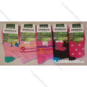 Ponožky slabé dětské dívčí bambusové (24-35) AURA.VIA GGN05