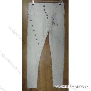 Kalhoty dlouhé dámské (xs -xl/bílá) JEWELLY LEXXURY L7106-1