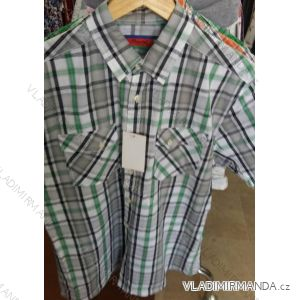Košile krátký rukáv pánská nadrozměrná bavlněná (m-3xl) PLAUDIT CASUAL 9112331