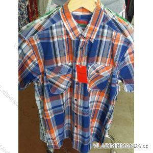 Košile krátký rukáv pánská nadrozměrná bavlněná (m-3xl) PLAUDIT CASUAL 9112332