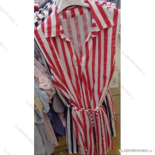94f13c92d55a Šaty košeľové bez rukávov prúžok dámske (uni sl) TALIANSKÁ MÓDA IMC18828