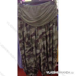 Kalhoty aladinky harémky 3/4 krátké dámské maskáč (uni s-l) ITALSKá MóDA IM218188