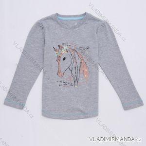 Tričko teplejší dlouhý rukáv dětské dívčí (98-128) WOLF S2744