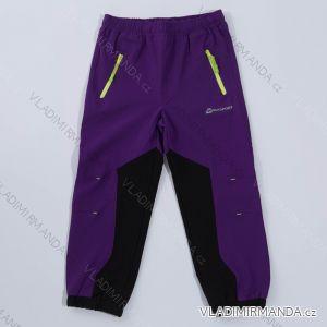 Kalhoty velmi slabé letní softshellové dětské  dívčí a chlapecké  (98-128) WOLF B2886