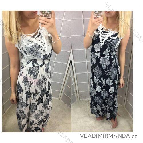 Šaty dlouhé bez rukávu květ dámské (s-xl) AMBITIONFLY ITALSKá MóDA NK8685 1eb801bc40c
