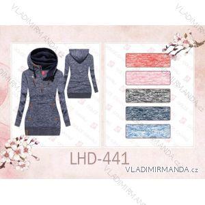 Mikina teplá prodloužená dámská (s-2xl) LHD FASHION LHD-441