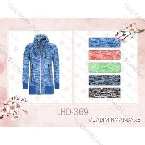 Mikina teplá prodloužená dámská (s-2xl) LHD FASHION LHD-369