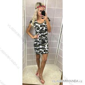 Šaty mini krátký rukáv push up dámská letní maskáčové (one size m/l) ITALSKá MóDA IM21816040