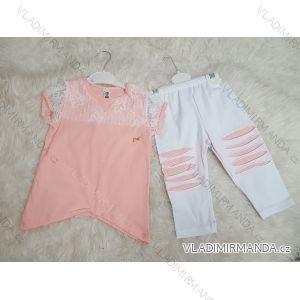 Souprava tričko krátký rukáv + legíny dlouhé kojenecká dívčí (2-5let)  TURECKá VýROBA TUR41803879