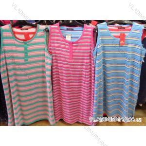 Šaty bez rukávů proužek letní dámské (m-2xl) VANNY DBX217-3