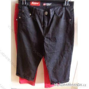 Kalhoty 3/4 krátké plátěné dámské (30-42) SUNBIRD SO9007A