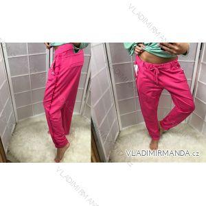Kalhoty dlouhé tenké s perličkami letní dámské  (xl) ITALSKá MODA IM518056