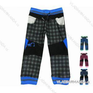 Kalhoty manžestr outdoor bavlněné tenké kojenecké dětské chlapecké dívčí (74-110) KUGO M5001