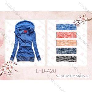 Mikina teplá prodloužená dámská (s-2xl) LHD FASHION LHD-420