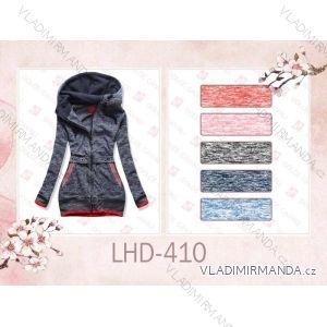 Mikina teplá prodloužená dámská (s-2xl) LHD FASHION LHD-410