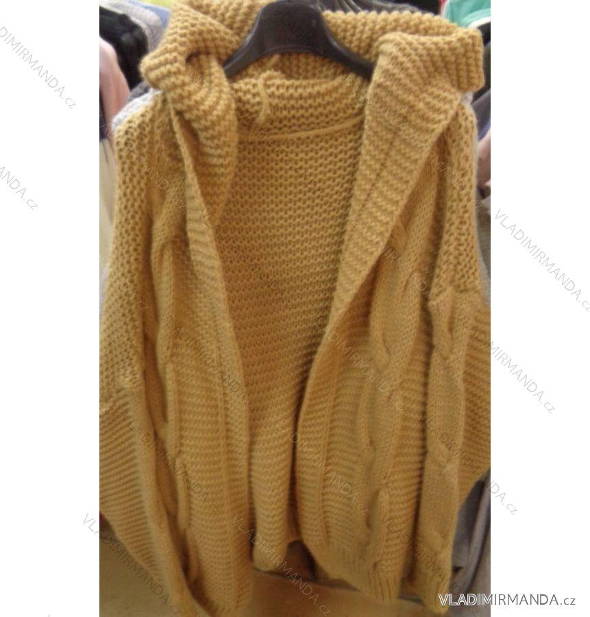 876025aacdd1 Cardigan pletený sveter dlhý rukáv s kapucňou dámsky (uni sl) Talianska  MODA IMC181074