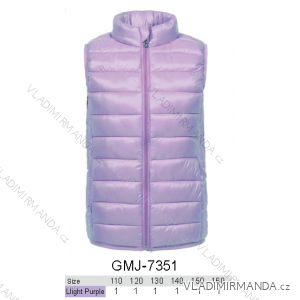 Vesta polstrovaná dětská a dorost dívčí (110-160) GLO STORY GMJ-7351
