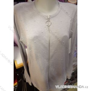 Tričko svetr slabý dlouhý rukáv dámské (l-3xl)  P-M FASHION POLSKá MóDA PM118182
